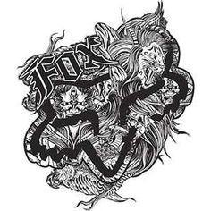 45 Best Fox Racing Tattoo With Flowers Images Fox Racing Tattoos
