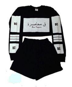 Cropped Sweatsuit (BLACK) High Street Brands, Adidas Jacket, Streetwear Brands, Active Wear, Luxury Fashion, Suits, My Style, Sweatshirts, Polyvore