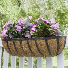 24-Outdoor-Metal-English-Horse-Trough-Rail-Planter-Garden-Window-Sill-Pot-Decor