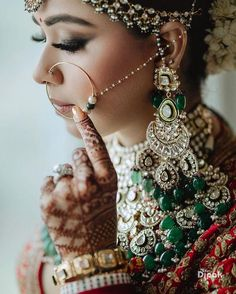 Architect, Athiya Bhalla Ditched Her Safety Helmet And Donned A Sabyasachi Lehenga And Nailed It Heavy Earrings, Round Earrings, Bridal Earrings, Bridal Jewelry, Sabyasachi Bride, Bridal Outfits, Wedding Looks, Dainty Necklace, Designer Earrings