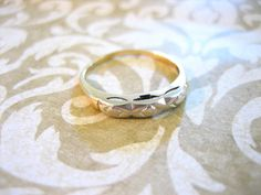 Antique 14K Gold Art Deco Engagement Wedding Band by charmingellie, $85.00
