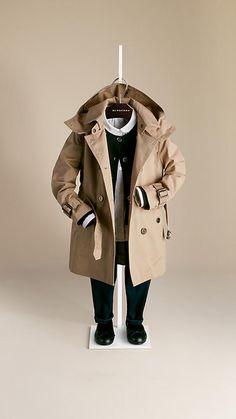 Cotton Twill Detachable Hood Trench Coat | Burberry