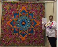 Glacier Star, Quiltworx.com, Made by Cathy Burk, Quilted by Sharon Lacey