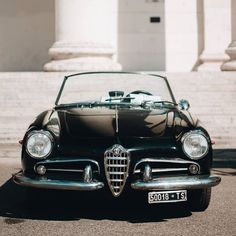 "• Lady in black. Alfa Romeo Giulietta ""Spider"" • www.carandvintage.com By @dela_automotive  #CarVintage  #giulietta #italy #art #torino #ferrari #mercedesbenz #porsche #bmw #bugatti #carporn #vintage #firstpost #first #elegance #lux #luxury #luxurycar #luxurylife #f4f #fashion #cars #londoncars #blacklist #newyork #autoporn #automotive #instacar #follow #cool"