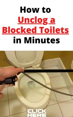 Simple Blocked toilets Hacks that will unclogged a badly clogged toilet Clogged Toilet, Toilets, Hacks, Simple, Bathrooms, Toilet, Tips