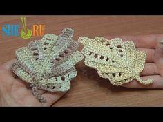 ▶ Crochet Leaf Work In Back Loops Tutorial 22 Part 1 of 2 - YouTube