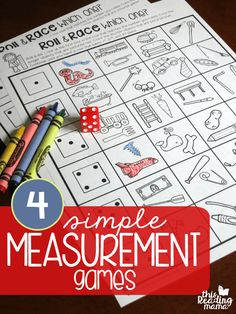4 FREE Simple Measurement Games for Kids - This Reading Mama