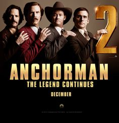 Anchorman: The Legend Continues - coming December 2013.  Watch the latest trailer for the new Anchorman movie!