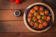 Buy Meatballs in sweet and sour tomato sauce. Top view by Timolina on PhotoDune. Meatballs in sweet and sour tomato sauce. Tailgating Recipes, Meals For One, Tomato Sauce, Recipe Using, Easy Meals, Healthy Recipes, Easy Recipes, Favorite Recipes, Stuffed Peppers