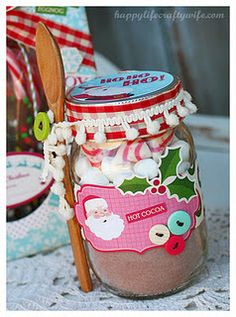 love this hot cocoa gift, love the wooden spoon!