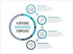 Four Steps Infographics Template PSD, Vector EPS, AI Illustrator
