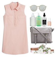 Flower by anaaborges on Polyvore featuring polyvore, fashion, style, MANGO, Topshop, Linda Farrow, philosophy, The White Company, Little Barn Apothecary, Essie and clothing