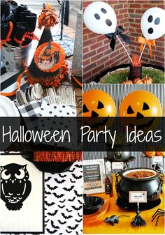 Throwing a Halloween party? These fabulous ideas from projects to food make coming up with Halloween Party Ideas a breeze! Fun Halloween Crafts, Halloween Home Decor, Halloween Food For Party, Diy Halloween Decorations, Cute Halloween, Halloween Treats, Haunted Halloween, Halloween Design, Diy Party