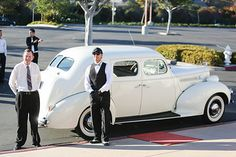 Waiting to greet  my newlyweds outside South Coast Church with red carpet in a 1939 American Rolls Royce Packard- another Perfect Day.........., Laguna Niguel, California
