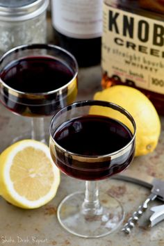 Wine and Whiskey Cocktail
