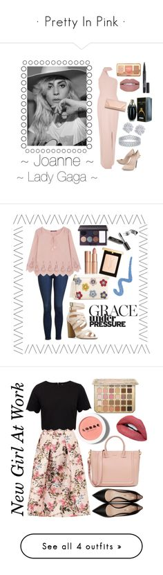 """""""· Pretty In Pink ·"""" by its-aiden-grace ❤ liked on Polyvore featuring River Island, Casadei, Dorothy Perkins, Too Faced Cosmetics, Smashbox, Effy Jewelry, Topshop, Comptoir Des Cotonniers, Yves Saint Laurent and Laura Mercier"""