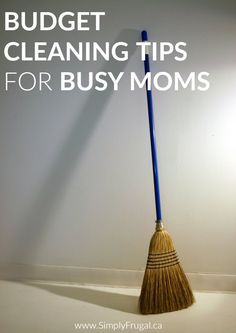 Check out these Budget Cleaning Tips For Busy Moms! These are some great tips to make cleaning house and staying on top of house work easier for any mom!