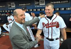 Atlanta Braves Former Pitcher, John Smoltz With Chipper Jones
