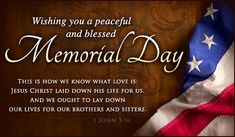 Memorial Day Bible Verses, Christian Quotes and Prayer | Gospelherald.