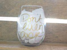 Stemless Wine Glass by VinylDesignsbySN on Etsy