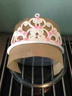 Handmade Tiara ready for a little girls cake