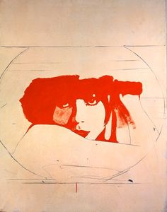 Giosetta Fioroni, Doppio Liberty, 1965  Keywords: Italy, Italian, Pop Art, Giosetta Fioroni, female Pop Art, artist, portrait