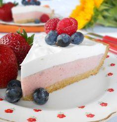 Strawberry Mousse Pie -- gluten-free, dairy-free