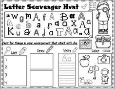 Letter Hunt:  An Alphabet Scavenger Hunt