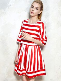 2403bcec9ea5c Stripe Latern Dress - Choies.com I Love Fashion