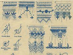 Vintage 40s Smocking Pattern/ Mail Order/ 6 dsgn Floral Embellishment