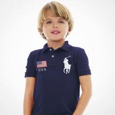 2-7 Flag Name-on-Back Polo - Personalization Polo Shirts - RalphLauren.com