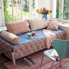 Des coussins et couvre-lit en Liberty©