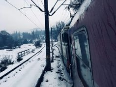 Travel when you can  #train #winter  #snow #oldtrain #goodmemories