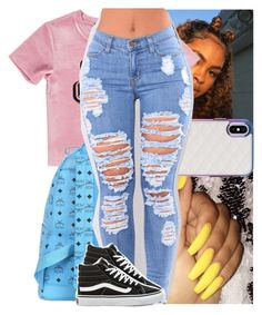 """"""""""" by heeytyy ❤ liked on Polyvore featuring Forever 21, MCM and Vans"""
