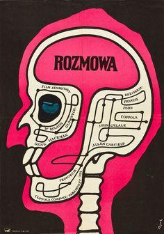 Designer: Andrzej Krajewski. Year: 1973. Title: Rozmowa [The Conversation].
