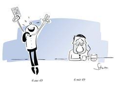 6 aus 49 gilt ja als außergewöhnlich unwahrscheinliches Ereignis … #cartoon #humor #sex #midlifecrisis #lotto www.philippsturm.de