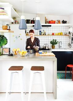 Christene Barberich's streamlined kitchen is #pantrygoals