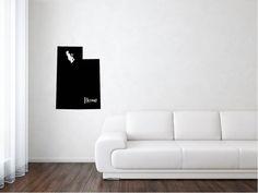 Utah Vinyl, Utah State Decal, States, United States, State Decal, Vinyl, Adhesive Vinyl, Removable Vinyl, Matte, Decals, Vinyl Decals by wildoakvinyl on Etsy