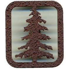 Metal drawer pull with pine tree design in your choice of black or rust finish. Log Cabin Living, Rustic Hardware, Metal Drawers, Tree Designs, Pine Tree, Drawer Pulls, Log Homes, Log Cabins, Timber Homes