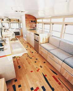 42 Awesome School Bus Conversion Tour and Designs https://www.vanchitecture.com/2018/04/07/42-awesome-school-bus-conversion-tour-and-designs/