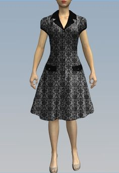 1940s Day Dress by Amber Middaugh 2015