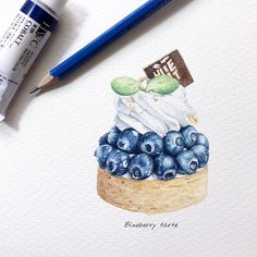 Sweets story Blueberry tarte Made by @littlehideout This week is a fruit week slide #fashion #illustration #illustrator #watercolor #holbein #drawing #draw #paint #painting #sharing #dessert #pastry #cream #cake #pastrychef #blue #beautiful #blueberry #sweets #tarte #fruit #art #artwork #instaart #instagram #水彩 #糕點 #水彩画 #taiwan #lingsketchbook
