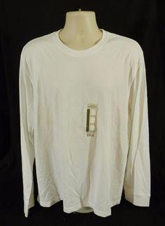 Eddie Bauer Long Sleeve T Shirt Crew Neck Bright White XL #EddieBauer #LongSleeveTee