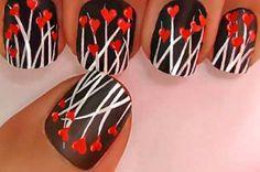 Love is in the air! Che ne dite di questa #nail art per #San Valentino?
