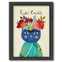 Americanflat ''Frida Cathlo'' Framed Wall Art, Multicolor