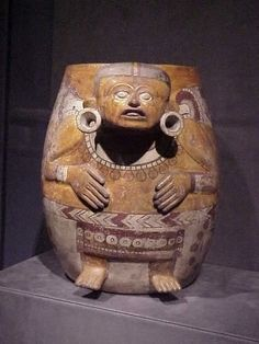Aztec Ceramic Effigy Vessel Depicting Male Figure Mexico 1100-1521 CE