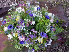 Spring Farewell tribute by www.flowersfromtheplot.co.uk