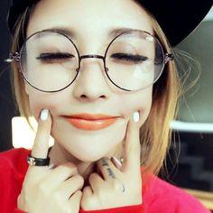 0990218119 Men women Round Sunglasses Retro Metal Frame Eyeglasses Korean Glasses  Optical Circle Plain Mirror Korean