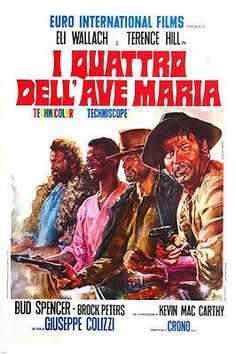 SPAGHETTI WESTERN ACE HIGH the 4 GUNMEN of AVE MARIA movie poster 24X36-PW0