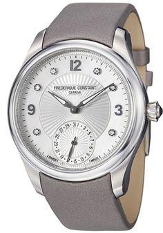 Frederique Constant FC700MPWD3M6-S Watches,Women's Frederique Constant Maxime Manufacture Automatic Silver Dial Grey Satin, Casual Frederique Constant Automatic Watches